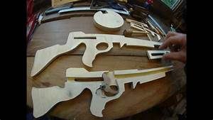 Tommy Machine Gun in wood ( made with a scroll saw) - YouTube