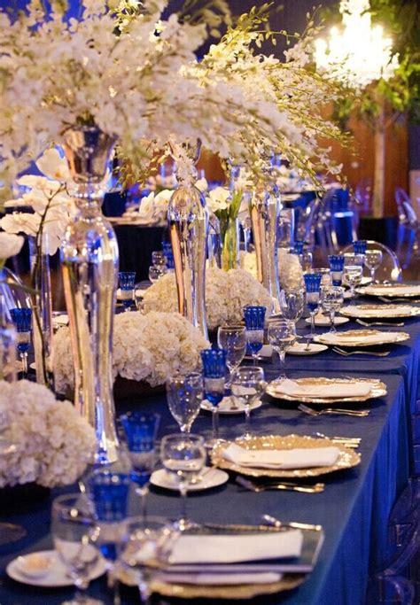 royal blue  champagne wedding theme
