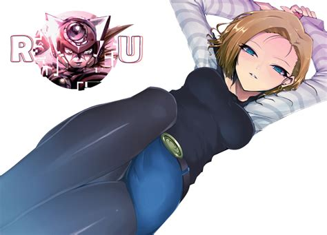 ecchi android android no 18 render universe
