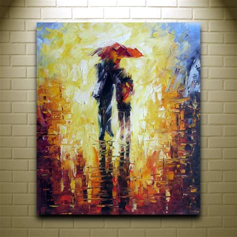 colorful palette knife painting on canvas modern abstract deco european wall decor wall