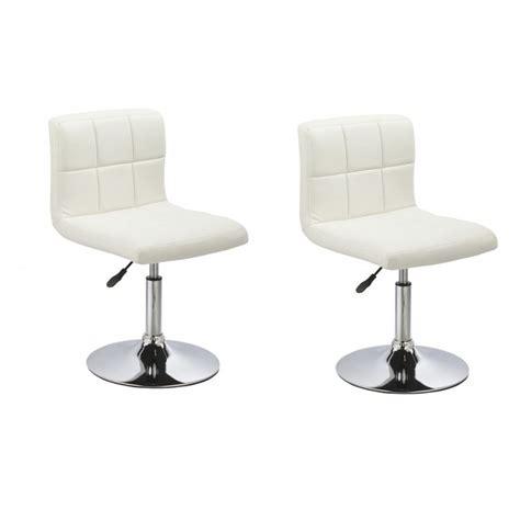 chaise de cuisine en cuir blanc lot de 2 chaises de salle à manger cuisine simili cuir