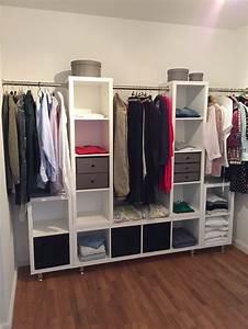 Begehbarer Kleiderschrank Dachschräge Ikea : kleiderschrank ikea kallax stangen und die f e ber ebay diy wohnen ~ Orissabook.com Haus und Dekorationen