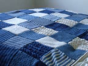 Patchwork Quilt Curtains by Knit It Grow It Cook It Knitted Blanket Finished
