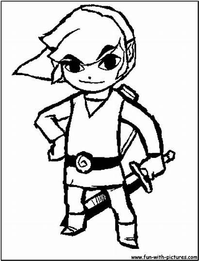 Coloring Link Pages Toon Zelda Nintendo Adult