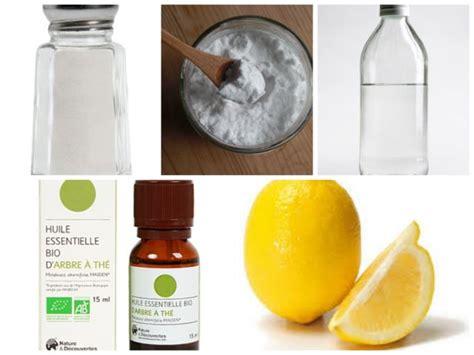 vinaigre blanc bicarbonate de soude 5 produits naturels pour le m 233 nage sel bicarbonate de soude vinaigre blanc huile essentielle