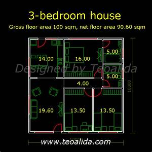 100 square meters house plan