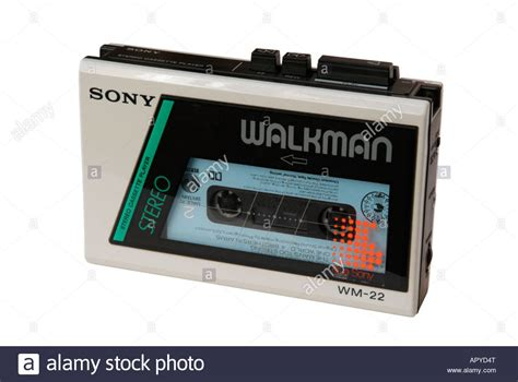 Cassette Walkman by Sony Walkman Wm 22 Stereo Cassette Player Stock Photo