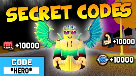 secret codes  roblox super power training simulator