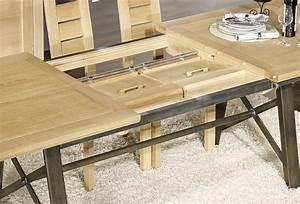 Table Bois Et Fer : table contemporaine bois fer ~ Teatrodelosmanantiales.com Idées de Décoration