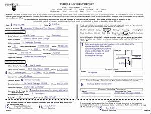 Image Of Vehicle Accident Report Form