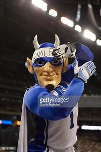 NCAA Playoffs Duke Blue Devils mascot after game vs Baylor ...