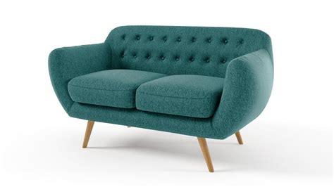 canapé 2places canapé 2 places vintage en tissu design scandinave ondigy