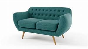 Fauteuil deux places for Canape vintage design