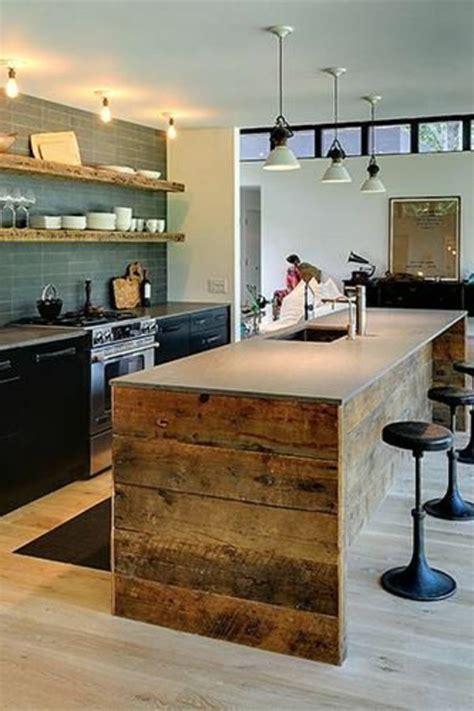comment construire un ilot central de cuisine cuisine avec îlot central 43 idées inspirations