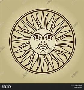 Vintage Retro Sun Illustration Vector & Photo | Bigstock
