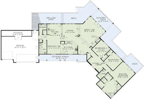 craftsman open floor plans angled ranch home plan 60629nd architectural designs