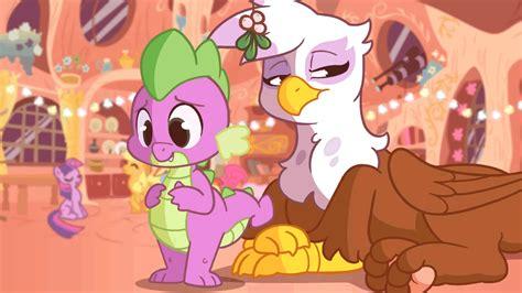 mlp spike applejack dash rainbow gilda animated e621 twilight pinkie pie sparkle zonkpunch pony kissing ships dragon party grey shipping