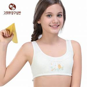 Young Girl Wireless Underwear Girls Small Bra Kids Padded ...