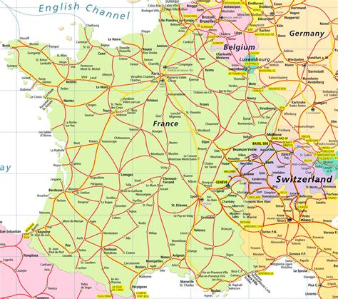 map  france  germany  cities