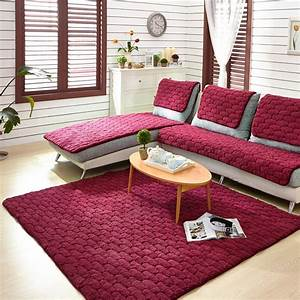 Aliexpresscom buy flannel 4colors sofa covers fleeced for Sofa cushion covers made to order