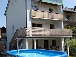 terrassen aus holz fur ihre erholung im garten With französischer balkon mit gartenzaun holz lärche