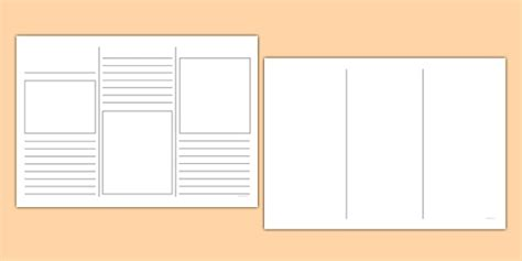 Leaflet Template by Leaflet Template Writing Template Writing Aid Leaflets