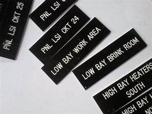 1quot x 3quot plastic name tags for electrical panels very With electrical panel engraved labels