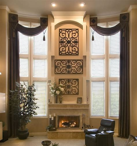 Window Drapes by Beautiful Two Story Drapery Window Treatments Home