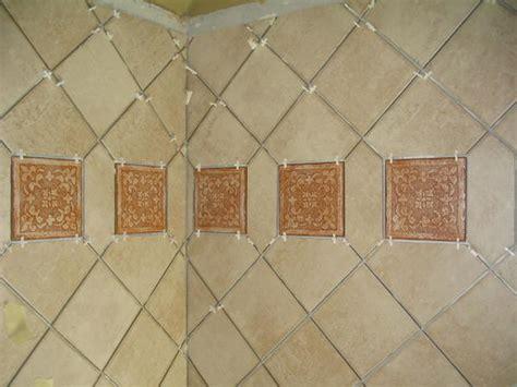 proper   install diagonal wall tile