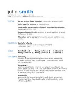 model resume template 4 free word document