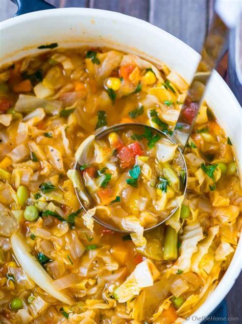 vegetarian cabbage soup recipe chefdehomecom
