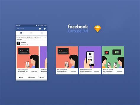 Facebook App Ad Carousel 2017 Mockup