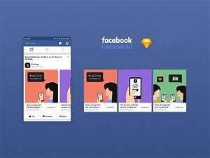 facebook app ad carousel 2017 mockup fluxes freebies With facebook app template psd