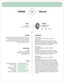 One Page Resume Sle Pdf by Resume Sle Modern Cv Exles 19 Images Designer Resume Template 28 Images Graphic Designer