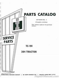 International Harvester 384 Diesel Parts Manual