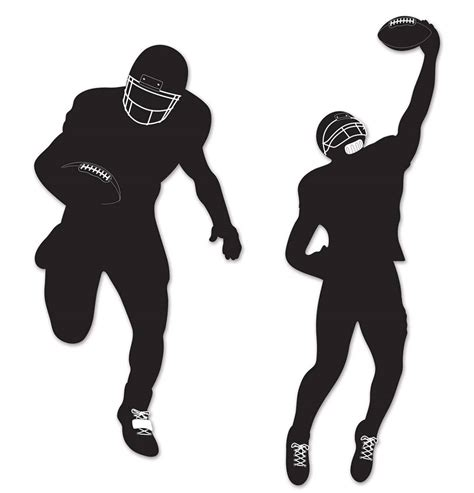 american nfl football silhouettes  beistle  karnival costumes