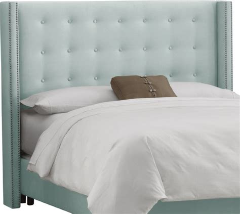 skyline velvet tufted headboard skyline furniture nail button tufted wingback headboard