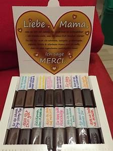 Diy Geschenkideen Mutter : muttertagsgeschenk merci dass es dich gibt diy mama geschenk merci danke packung diy ~ Markanthonyermac.com Haus und Dekorationen