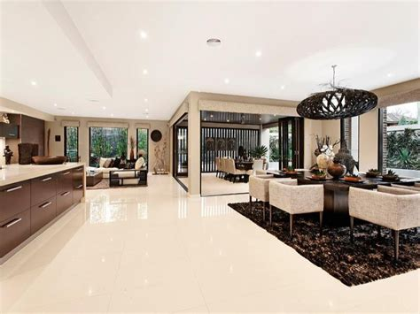 provincial cuisine open plan living room black colours with laminate bi fold doors living area photo 161698