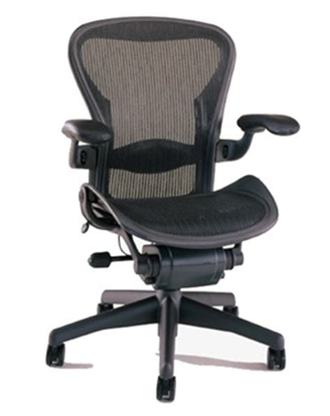 herman miller aeron chair size b fully featured in black