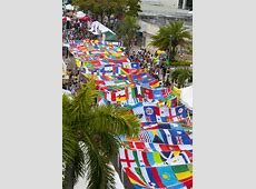 Calle Ocho Breaks World Record In Miami For Largest Flag