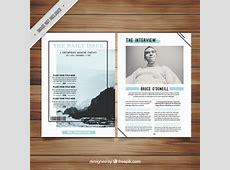 Minimalist magazine template Vector Free Download
