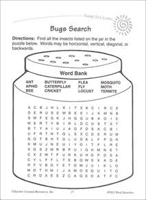Word Search Grade 3