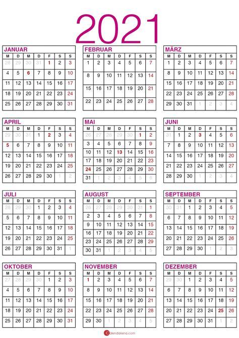 Op deze website staat iedere online jaarkalender / kalender voor o.a. Kalender 2021 Mit Kalenderwochen Und Feiertagen
