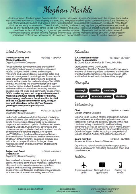 Creative Marketing Resume by 10 Real Marketing Resume Exles That Got Hired At