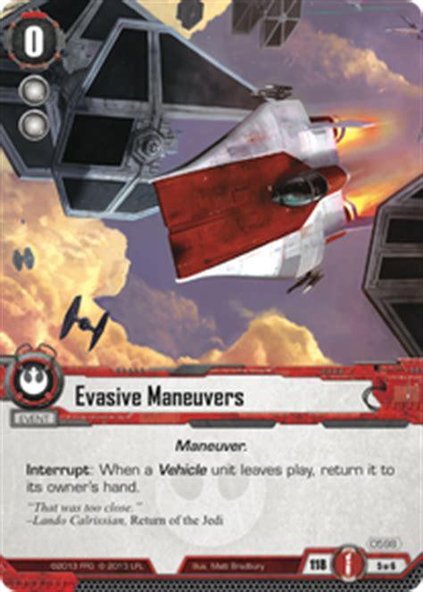 Evasive Maneuvers Deck Upgrade by Evasive Maneuvers It Binds All Things Wars Lcg