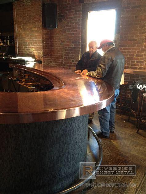 Brick and Mortar's copper counter top, Cambridge   MA