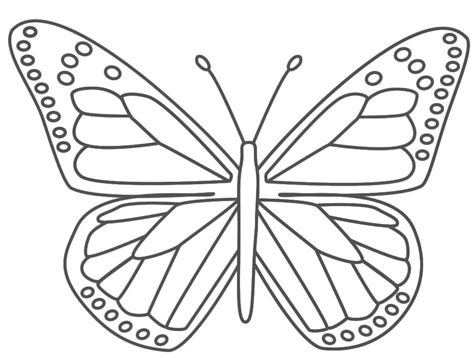 butterfly coloring page  kids dana butterfly