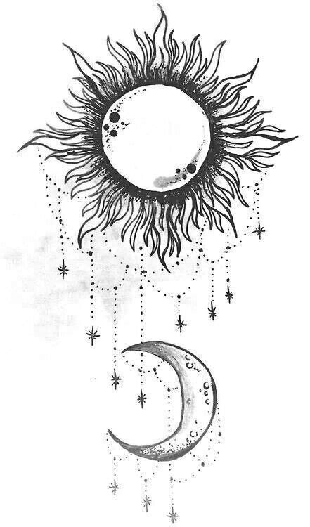 Sun and moon. I want this on my shoulder   Sun tattoos, Moon tattoo designs, Star tattoos