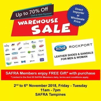 While we dust off our shelves to make room for the newest products, we are practically giving away some of our overstocked items. 2-6 Nov 2018: Rockport & Scholl Warehouse Sale Clearance ...